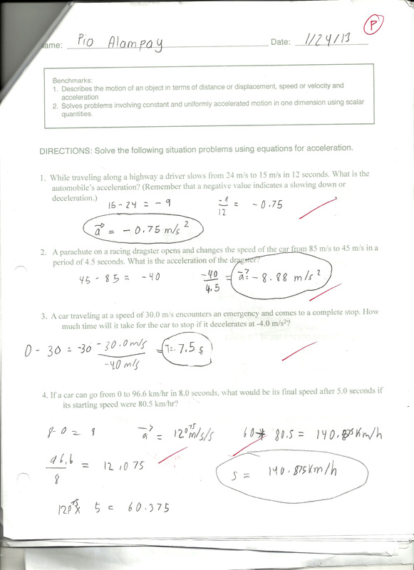 Worksheets Distance And Displacement Worksheet With Answers science pios portfolio term 3 acceleration worksheet and distance vs displacement worksheet